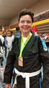 Brons voor Tanja de Leeuw uit Lelystad op het Nederlands Kampioenschap Braziliaans Jiu Jitsu in Nijmegen