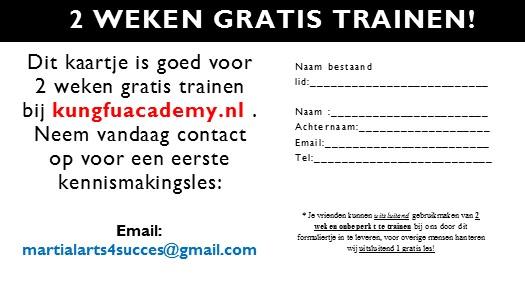 2 weken gratis trainen 1 dec 2014