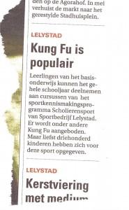 kung fu is populair in Lelystad
