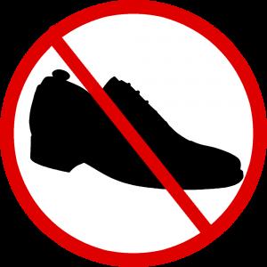 schoenen uit in de kungfu academy in Almere en Lelystad